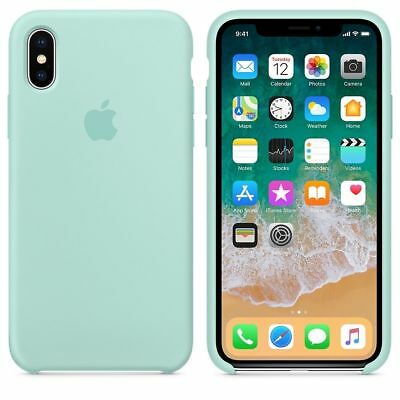 Original Silicone Leather Case For iPhone XR XS Max 6 7 8 Plus Genuine OEM Cover 9