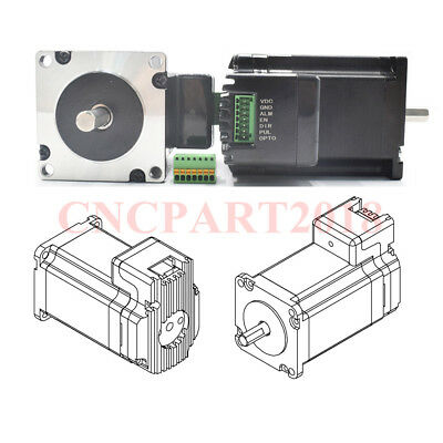 Integrated 2 in 1 Nema23 Stepper Motor L76mm 3A 1.8Nm Shaft 8mm for CNC Router 3