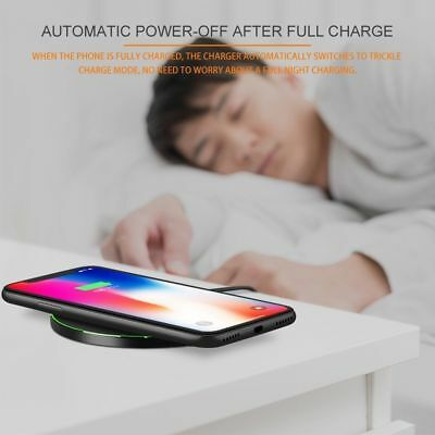 Fast Qi Wireless Charger Dock For iPhone X 8 plus XR XS Samsung S8 S9 plus Note9 10
