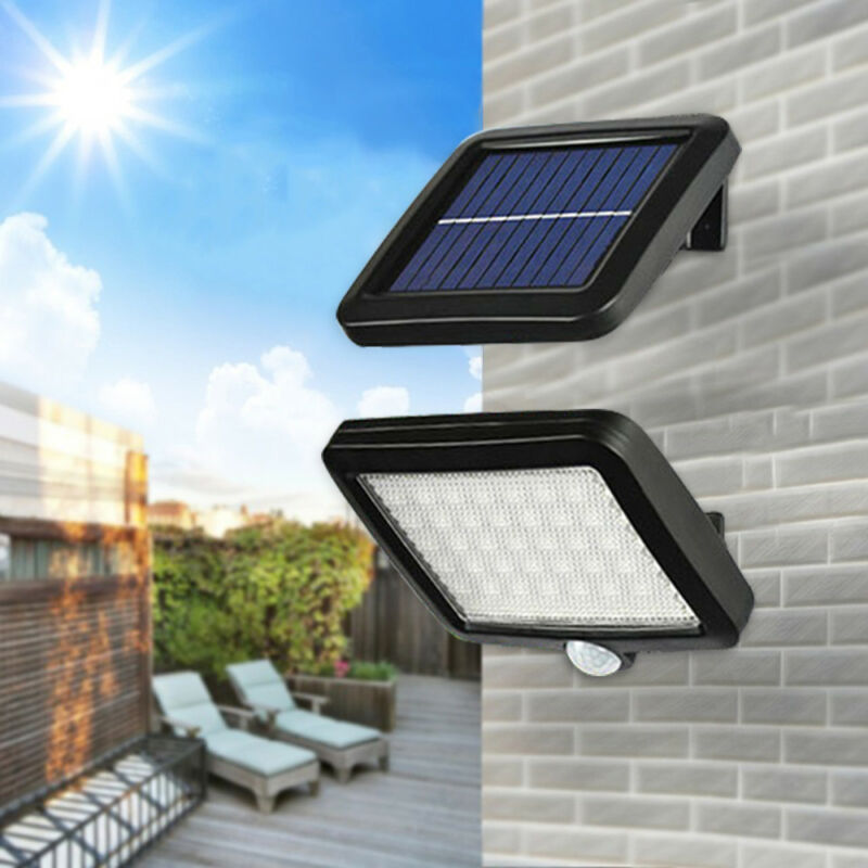Solar Powered PIR Motion Sensor Outdoor Garden Light Security Flood Lamp 56 LED 2