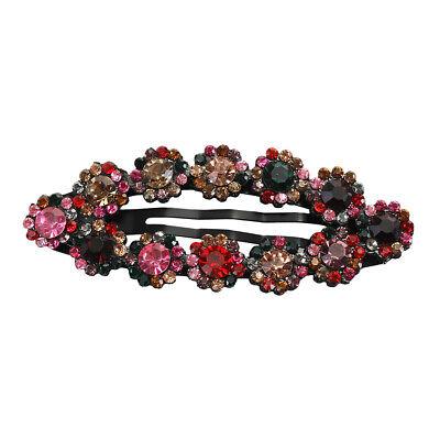 2PCS Women/'s Crystal Snap Hair Clips Hairpin Barrette Slide Hair Pin Accessories