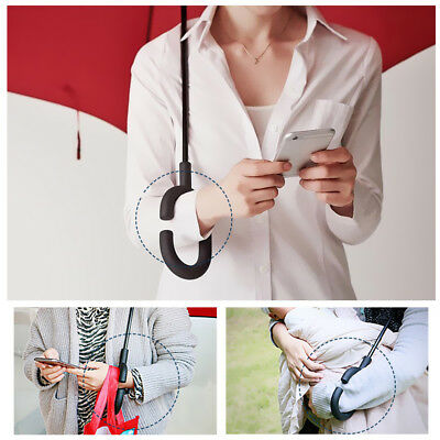 Windproof Upside Down Reverse Umbrella Double Layer Inside-Out Inverted C-Handle 8