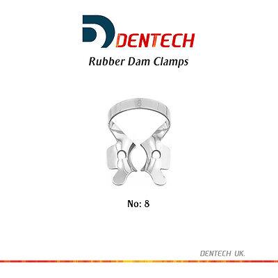 Rubber Dam Clamps Molar Restorative Dental Set Of 4 German Steel Ce New