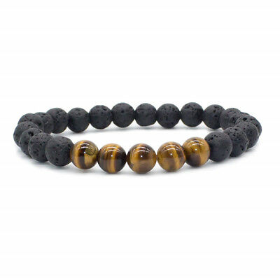 8mm Beads Natural Aromatherapy Lava Stone Healing Bracelet For Men Women Jewelry 2