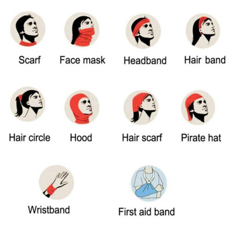 Multi Magic Head Face Mask Snood Neck Tube Outdoor Sport Wrap Shawl Buff Scarf- 3