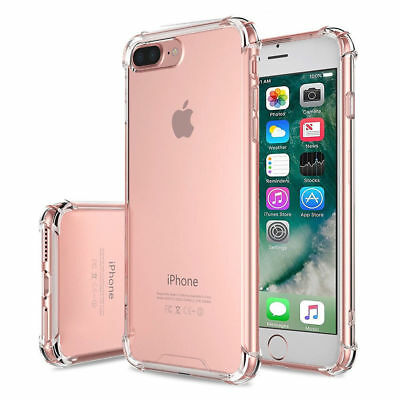 For Apple iPhone X/8/7 Plus Ultra Thin Transparent Clear Shockproof Bumper Case 4