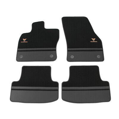 2005-2012 Doppelziernaht Fußmatten für Seat Leon 2 1P FR Cupra Style Bj