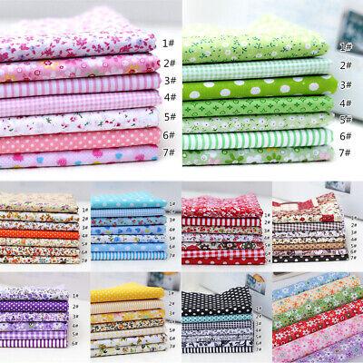 7Pcs 100% Cotton Fabric Assorted Pre-Cut Bundle DIY Decor 25cm CHRISTMAS GIFT 2