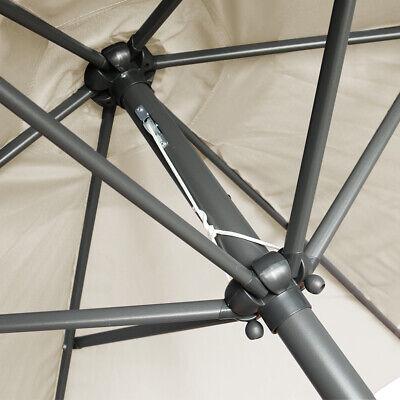 2.5M Round Garden Parasol Umbrella Patio Sun Shade Aluminium Crank Tilt 6