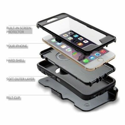 Case For iPhone 7 & iPhone 8 With Screen Clip Belt Hybrid Shockproof Heavy Duty 5