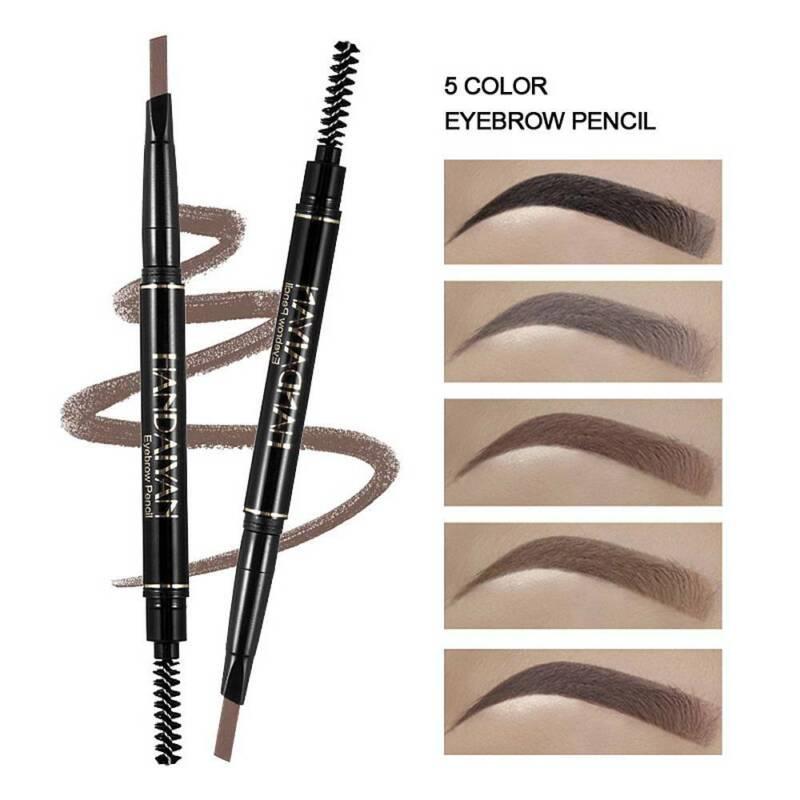 HANDAIYAN 5 Colors Double Ended Eyebrow Pencil w/ Brush Waterproof Long Lasting 2