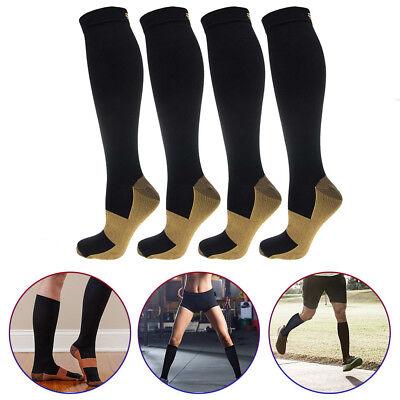 (5 Pairs) Copper Compression Socks 20-30mmHg Graduated Support Mens Womens S-XXL 4