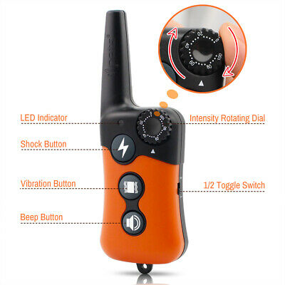 Ipets 1000ft Remote Dog Shock Collar Rechargeable Waterproof Dog Training Collar 5