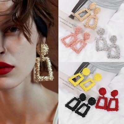 Fashion Punk Jewelry Geometric Dangle Drop Earrings Metal Statement Big Gold 9