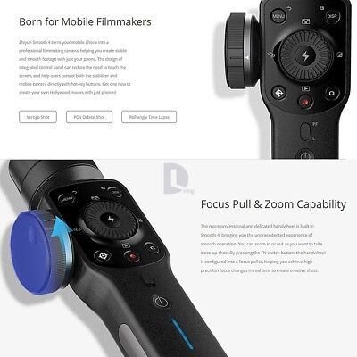Zhiyun Smooth 4 3-Axis Handheld Smartphone Gimbal Stabilizer for iPhone Samsung 4