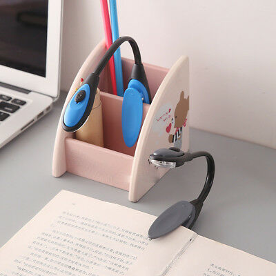 NEW Fine Convenient Portable Travel Book Reading Light Lamp LED Clip Booklight 2