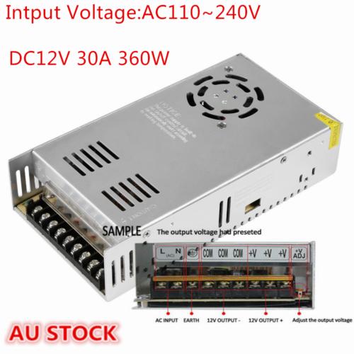 AC 110-240V TO DC 12V/24V 5A/10A/15A/20A/30A Transformer Regulated Power Supply 10