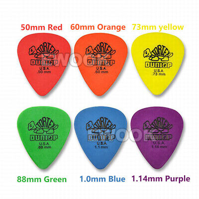 6X / 12X Jim Dunlop Tortex Standard Plectrums Mixed Pro Gauges Guitar Picks AU 2