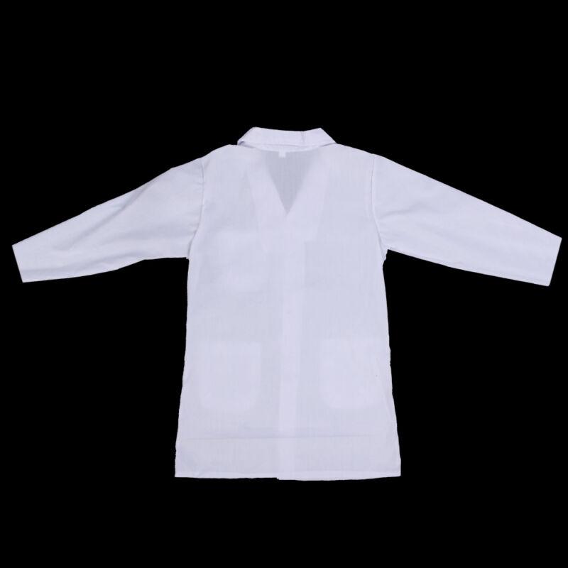 White Kids Lab Doctor Scientist Coat School Fancy Dress Costume Children