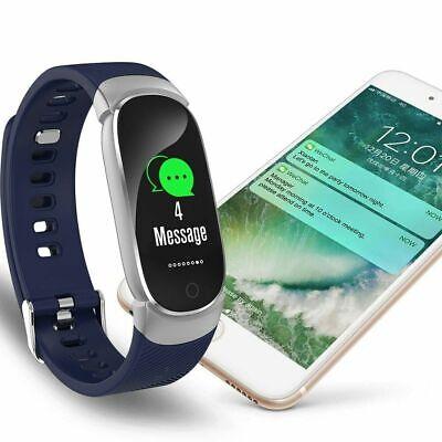 Waterproof Smart Bracelet IP67 Heart Rate Blood Pressure Fitness Tracker Watch 9