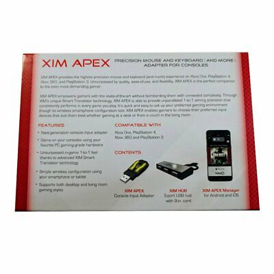 XIM APEX Mouse Keyboard converter Adapter for Xbox One 360 PS3 PS4 AU Stock 5