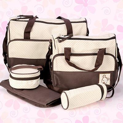 Pflegetasche 5tlg Babytasche Wickeltasche Kindertasche Windeltasche in 5 Farbe 8