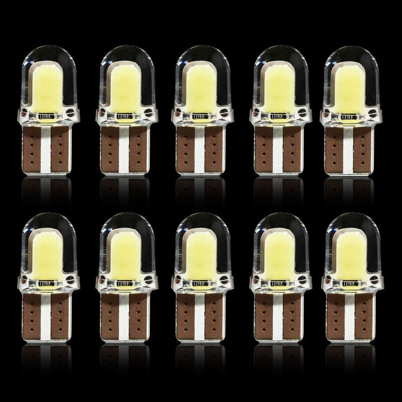 10pcs/kit LED T10 194 168 W5W COB 8SMD CANBUS Silica White License Light Bulbs 11