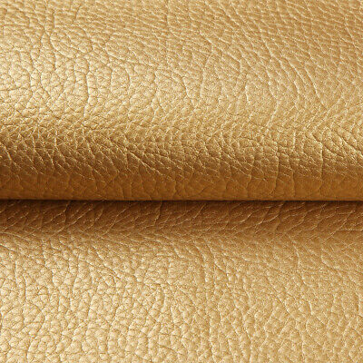 """Vinyl Faux Leather Fabric Litchi Pleather Upholstery Fabric 54"""" Wide By the Yard 12"""