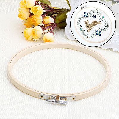 13cm Wooden Embroidery Cross Craft Cross Stitch Tapestry Ring Hoop Frame Tools