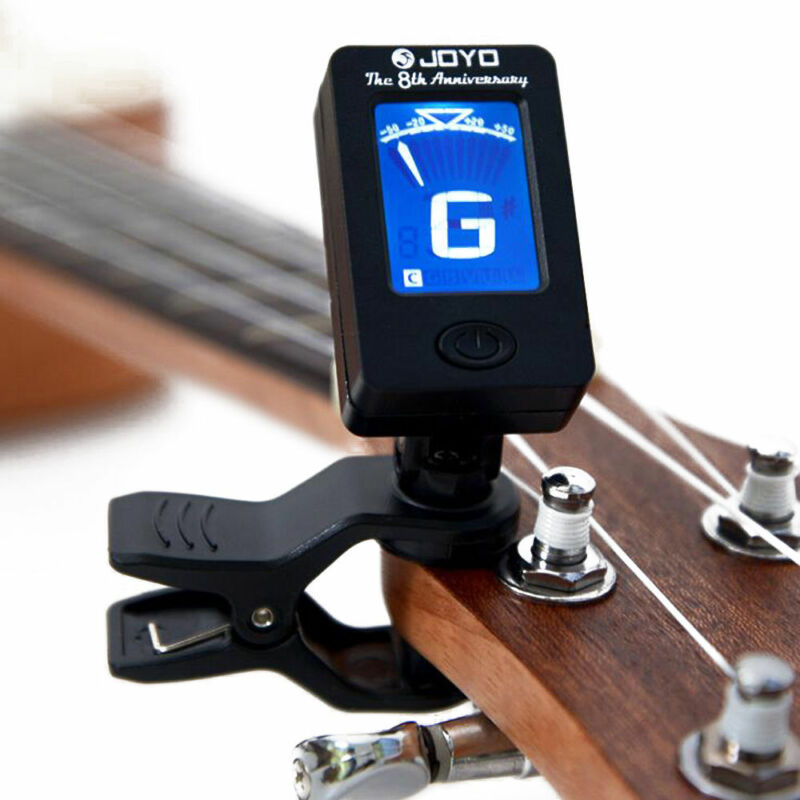 Pro LCD Clip-on Electronic Digital Guitar Tuner for Chromatic Bass Ukulele 6