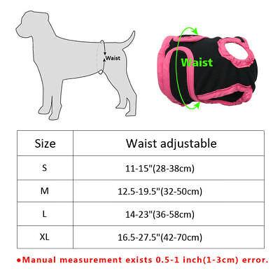 Dog Nappy Diaper Incontinence Season Pants Adjustable Black Purple Season Puppy 9