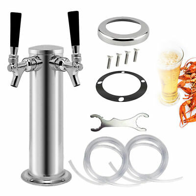 Draft beer towers Height 330mm 2 Tap  Kegerator Homebrew Diameter 76mm  Faucets 6