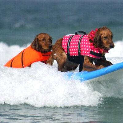 Pet Swimming Safety Vest Dog Life Jacket Reflective Stripe Preserver Puppy US 4