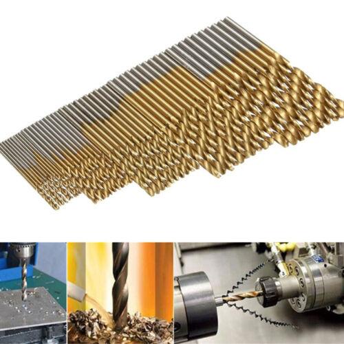 Set 50Pcs HSS Cobalt Foret Fraise 1-3mm Percage Perceuse Acier Forage Drill Bit 5