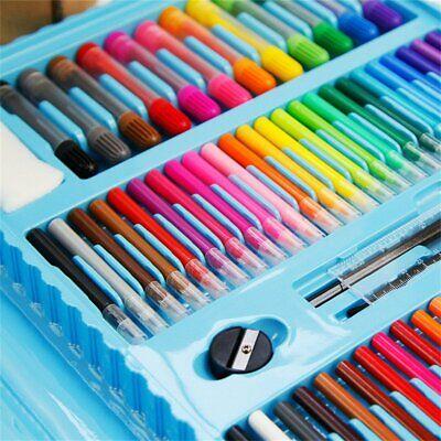 Kids Colouring Set 208PCS Artists Art Case Pencils Painting Childrens Craft 8