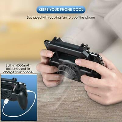 Mobile Games Cooling Fan Gamepad Joystick Controller For PUBG 4.7-6.5'' Phone 3