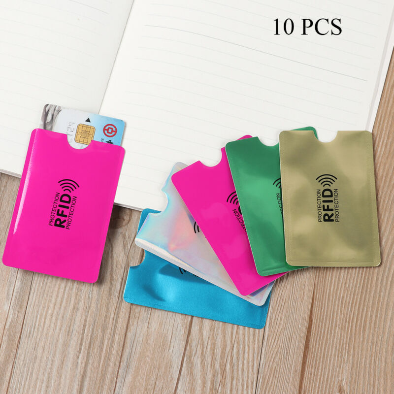 10PCS Anti Theft for RFID Credit Card Protector Blocking Sleeve Skin Case New