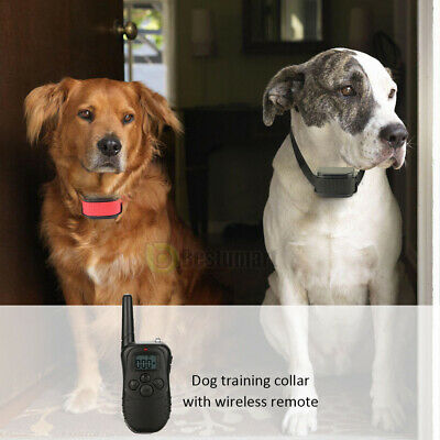 Waterproof 1000 Yard 2 Dog Shock Training Collar Pet Trainer with Remote 4 Mode 3
