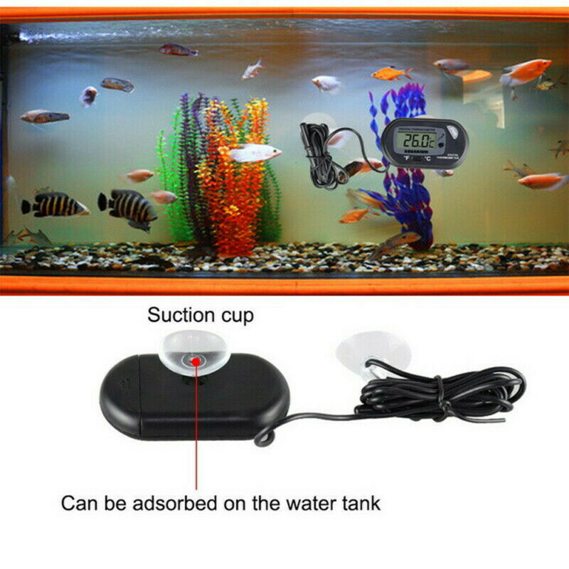LCD Digital Fish Tank Reptile Aquarium Water Meter Thermometer Temperature US 9