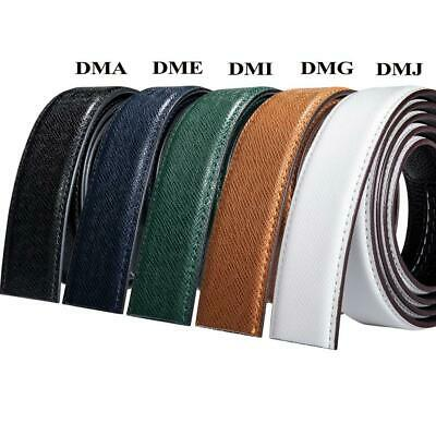 Mens Replacement Belts Buckles Real Leather Straps Ratchet Automatic Buckles 2