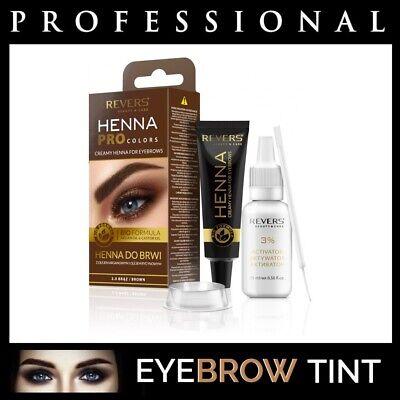 Professional EYEBROW HENNA Brow Eyelash TINT Dye Cream Black Brown Graphite 15ml 3