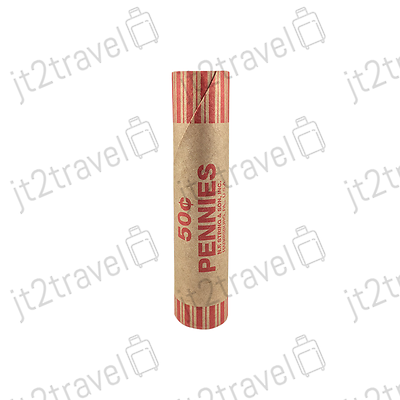 100 Preformed Penny Tubes Paper Coin Wrapper 1 Cent Pennies Counter Shotgun Roll 4