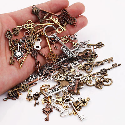 Wholesale Steampunk Skull Cross Gear Pendant Charms For Bracelet Jewelry Finding 7