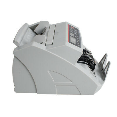 Money Bill Counter Machine Cash Counting Bank Counterfeit Detector Checker UV MG 7