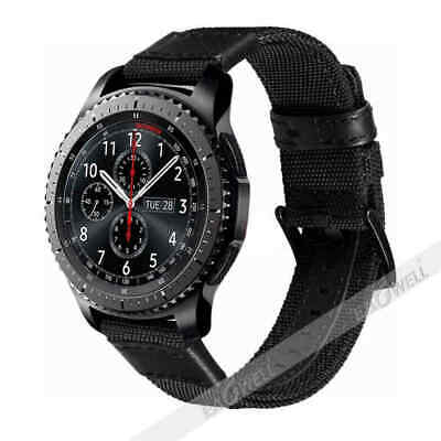 For Samsung Galaxy Watch Gear S3 SPORT 42 / 46mm Leather Nylon Watch Band Strap 2