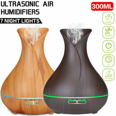 Aroma Aromatherapy Diffuser LED Essential Oil Ultrasonic Air Humidifier Purifier 9