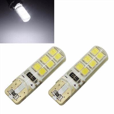 10x Xenon White T10 W5W 12SMD 2835 LED Canbus Error Free Silica Light Bulb 6000K 7