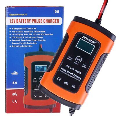 UK Intelligent 12V Motorcycle Motorbike Battery Charger Automatic Smart Trickle 6