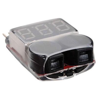 1-8S Battery Voltage 2IN1 Tester Low Stromspannung Buzzer Alarm AHS