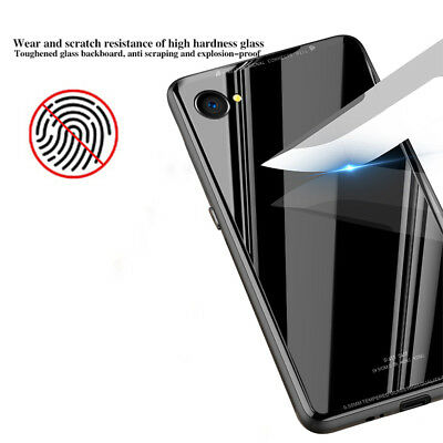 iPhone X XS MAX XR 7 8 Plus Slim Thin Bumper Case Cover Tempered Glass For Apple 5
